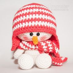 Amigurumi - Schneemann häkeln - Sven - gratis Anleitung, #haken, gratis patroon (Duits), amigurumi, sneeuwpop, knuffel, speelgoed, #haakpatroon, Kerstmis, winter