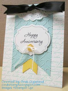 Cindi's Stampin Spot: SIP#15 & FMS#205 - Happy Anniversary!