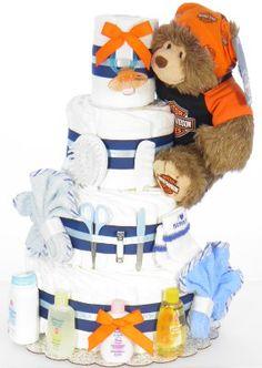 Harley Boy Bear Diaper Cake Party Planning, Children, Kids, Baby Shower, Bear, Diaper Cakes, Fun Ideas, Giveaways, Future
