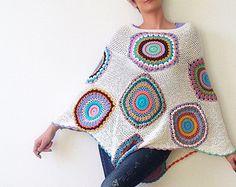 Urban Lagenlook Cable Sweater Cardigan Asymmetrica by subrosa123