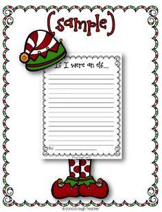 {FREEBIE} If I were an elf... writing page