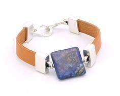 Bracelet cuir & lazuli #tutoriel #bijoux #cuir #leather #diy #bracelet…