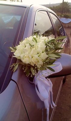 Rose Delivery, Rose Basket, Wedding Car Decorations, Wedding Events, Weddings, Send Flowers, Event Decor, Wedding Bouquets, Greece