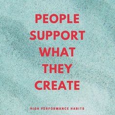 Make sure whatever you create you ENJOY it. Put your full heart into your work! #highperformancehabits