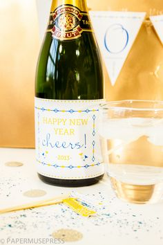 New Years Eve printable bottle label