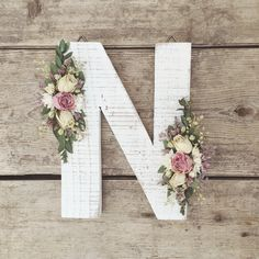 A personal favorite from my Etsy shop https://www.etsy.com/ca/listing/522135108/dried-wildflower-wooden-letter-n-floral