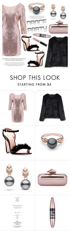 """""""Dance Party!"""" by pearlparadise ❤ liked on Polyvore featuring Chicwish, Escalier, Jimmy Choo, StyleNanda, Maybelline, NYX, contestentry, danceparty, pearljewelry and pearlparadise"""