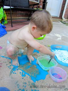 'edible' paint, and hungry caterpillar activity