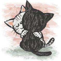 'Cats Hug' by Toru Sanogawa