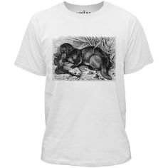 Mintage Otter with Fish Kids Fine Jersey T-Shirt