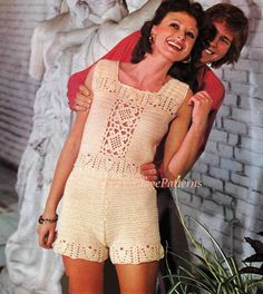 Crochet Shorts and Top Pattern ... Lacy por ChicVintagePatterns