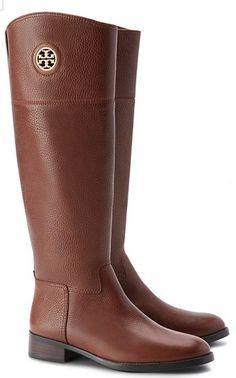 beautiful brown Tory Burch riding boots