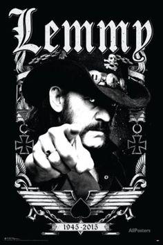 Motorhead- Lemmy 1945-2015 Pôster