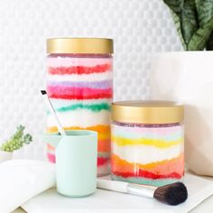 Check our website http://ift.tt/1f5JlBb for some colorful rugsI'm thinking it's a bath and homemade sugar scrub kind of Monday night over here how about ya'll?! It's been a busy day! (the how-to for these colorful scrubs are in the #sugarandcloth archives) by sugarandcloth