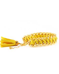 The Canary Woven Chain Bracelet by JewelMint.com, $40.00
