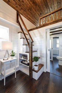 Cool 60 Amazing Loft Stair for Tiny House Ideas https://decorapartment.com/60-amazing-loft-stair-tiny-house-ideas/