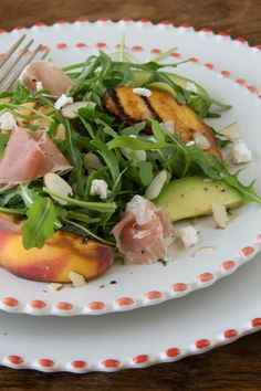 Arugula and Grilled Peach Salad