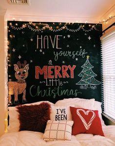 christmas bedroom Pretty Christmas Decoration Ideas For Your Bedroom ~ IRMA Christmas Mood, Noel Christmas, Merry Little Christmas, Xmas, Christmas Tumblr, Cheap Christmas, Homemade Christmas, Outdoor Christmas, Christmas Ideas