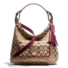 Coach Legacy Courtenay Hobo Shoulder Bag In Signature Fabric ($278)