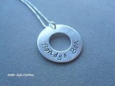 Haiti Creole Bondye Bon (God is good) hand stamped Necklace. $35.00, via Etsy.
