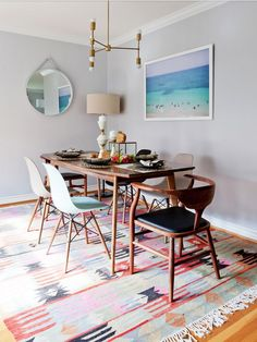 Dining Room Inspiration l 10 Stylish Dining Rooms l Mid century dining room