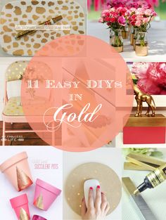 Easy and affordable DIY project for everyone. Did I mention that all these projects have something to do with gold?! :)