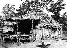 A Kickapoo wickiup, Sac and Fox Agency, Oklahoma, ca. 1880.