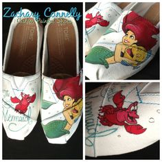 The Little Mermaid Disney Toms Shoes by ZacharyConnellyArt