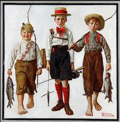 Norman Rockwell Museum  Catch, The 1919