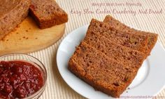 Weight Watchers Friendly Easy Slow Cooker Cranberry Nut Bread