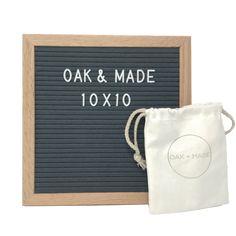 Twain Oak/Dark Gray Letter Board