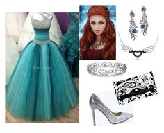 """""""My prom"""" by sierra-aka-misty ❤ liked on Polyvore featuring Boohoo, Wing Ho, Effy Jewelry, Parinda, women's clothing, women's fashion, women, female, woman and misses"""