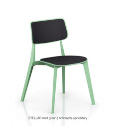 TOOU Stellar Upholstered Dining Chair (Set of Colour: Mint Green, Upholstery Colour: Warm Gray Plastic Dining Chairs, Solid Wood Dining Chairs, Upholstered Dining Chairs, Dining Chair Set, Dining Furniture, Chair Upholstery, Greens Restaurant, Restaurant Chairs, School Chairs