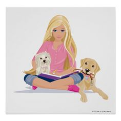 Barbie With Her Pets Posters