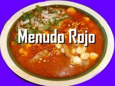 MENUDO ROJO con Pancita de res en olla lenta receta mexicana- Complacien...