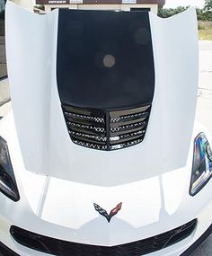 C7 Corvette Z06 Grand Sport Stingray Vent Blade Overlay Hood Vinyl 5 Piece Set