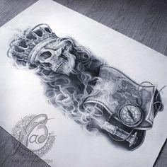 Новости Skull Tattoos, Life Tattoos, Hand Tattoos, Magpie Tattoo, Rip Tattoo, Crown Hand Tattoo, Full Sleeve Tattoos, Skull Art, Graffiti