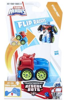 Hasbro Transformers Rescue Bots Flipracers – Optimus Prime - Rescue Bots