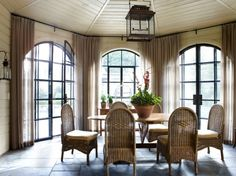 Love arched windows when sheers are used to accentuate the details