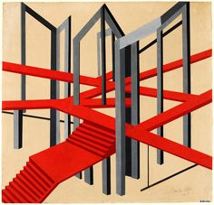 Alexandra Exter (1882-1949) – Design for a Constructivist stage setting, Victoria and Albert Museum, London