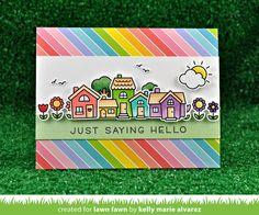 Lawn Fawn house card