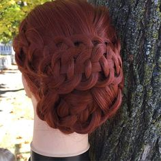 """""""Four strand braid updo I came up with the other day. What do you guys think?  - I kinda miss Lily's long hair right now... - #hair #hairstyle #hairoftheday #hotd #braid #braids #love #loveit #gorgeous #lovely #pretty #updo #mannequin #four #fourstrand #fourstrandbraid"""" Photo taken by @annies_hairstyles on Instagram, pinned via the InstaPin iOS App! http://www.instapinapp.com (10/21/2015)"""