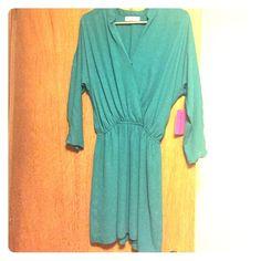 Eight Sixty dress Teal 3/4 sleeve dress. Eight Sixty Dresses Mini