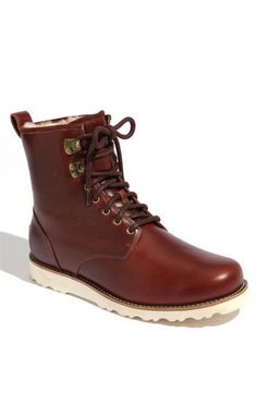 UGG® Australia 'Hannen' Boot | Just like a Red Wing Boot...except it's lined...and they're Uggs...but they look SWEET!