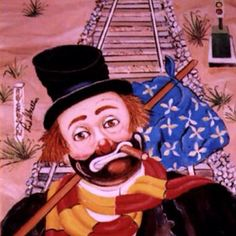 He made clowns a specialty of his. Red Skelton Paintings, Emmett Kelly, Clown Paintings, Clown Tattoo, Great Comedies, Abbott And Costello, Send In The Clowns, Circus Clown, Clowning Around