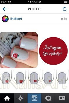 Apple nail art tutorial
