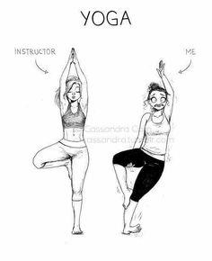 Cassandra Calin, Yoga in Real Life - Neatorama. Yoga Jokes, Yoga Meme, Yoga Humor, Gym Humor, Cute Comics, Funny Comics, C Casandra Comics, Cassandra Calin, Yoga Cartoon
