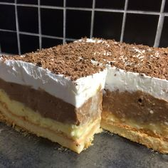 Dobos Torte Recipe, Torte Cake, Bosnian Recipes, Croatian Recipes, Baking Recipes, Cookie Recipes, Dessert Recipes, Macedonian Food, Kolaci I Torte