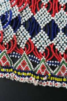Large colorfully beaded necklace from the snake-charmer Kalbelia (Kalbeliya) Gypsy Tribe of Northern India.