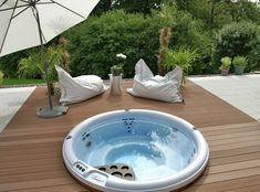 Not all people can afford huge, luxurious baths that resemble spas with jacuzzi and saunas, bathtubs and fancy showers, separate … Outdoor Cabana, Jacuzzi Outdoor, Kitchen Storage Solutions, Diy Kitchen Storage, Hot Tub Garden, Garden Pool, Jacuzzi Design, Wendy House, Outdoor Spaces